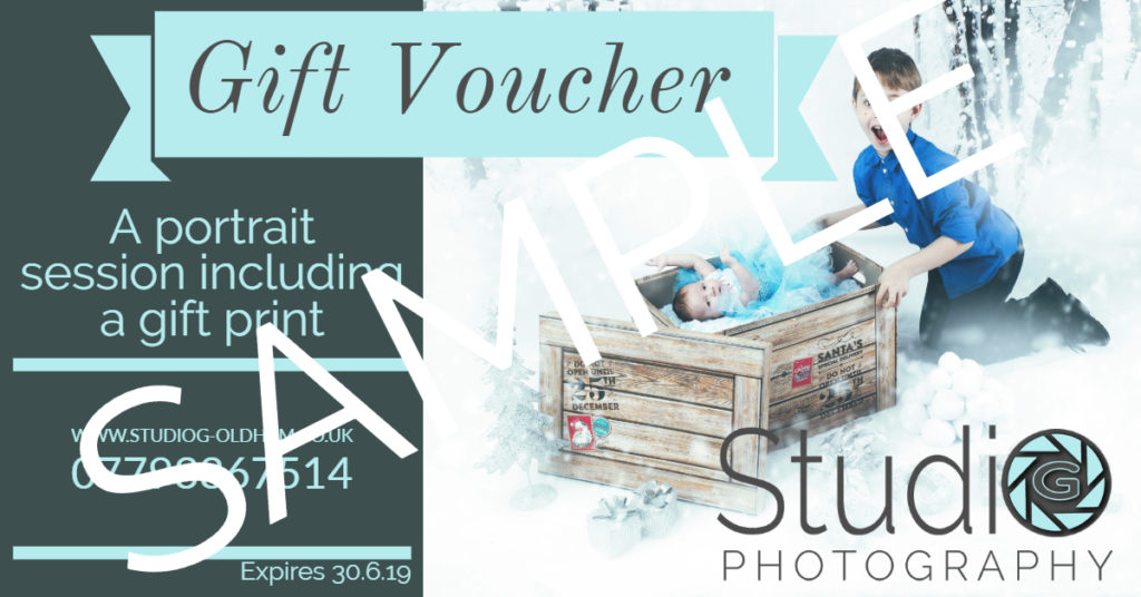 Christmas gift vouchers from Studio G Photography